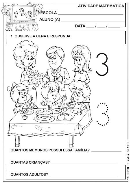 Atividade Família  Volta às Aulas