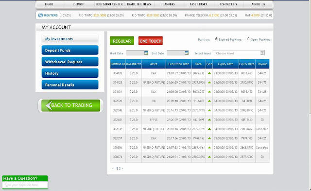 Free binary options trading