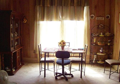 Part of our dining room, it is a large room