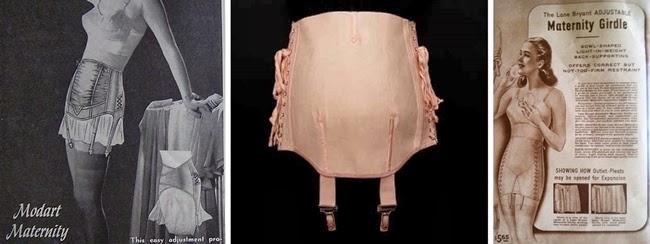 vintage 1940s 1950s maternity pregnancy girdle corset