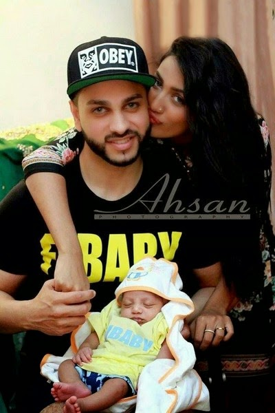 Mathira Latest Photo-shoot with her Newly Baby Born and Husband