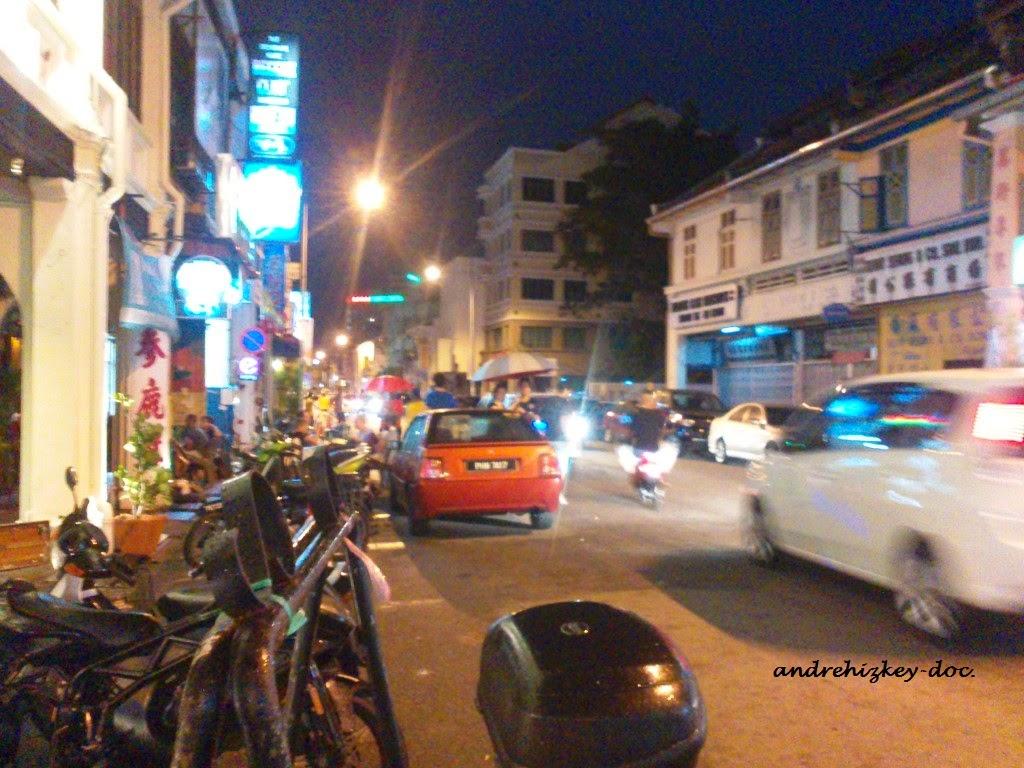 chulia street night view