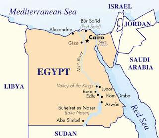 egypt intro map