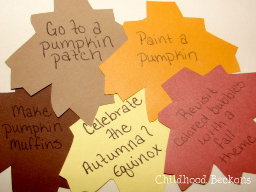 categorize the leaves on your fall bucket list