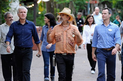 James Cameron walking in Animal Kingdom