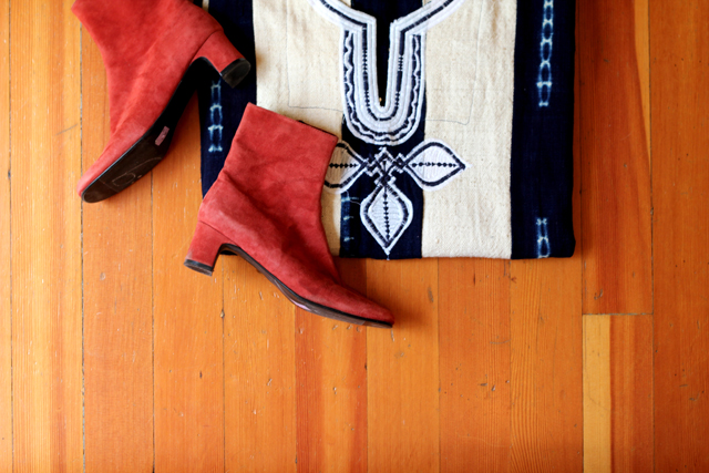 Vintage Suede Ankle Boots