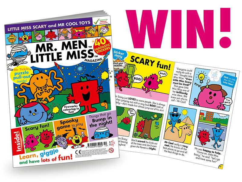 Win 1 of 3 Mr Men and Little Miss Magazine subscriptions.from EgmontUK @ Ups and downs, smiles and frowns.