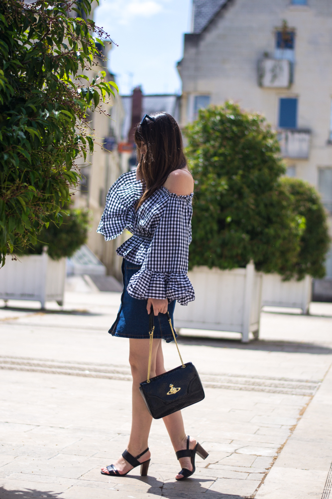 Vichy Top, Chicwish, Look of the day; blog mode paris, meet me in paree