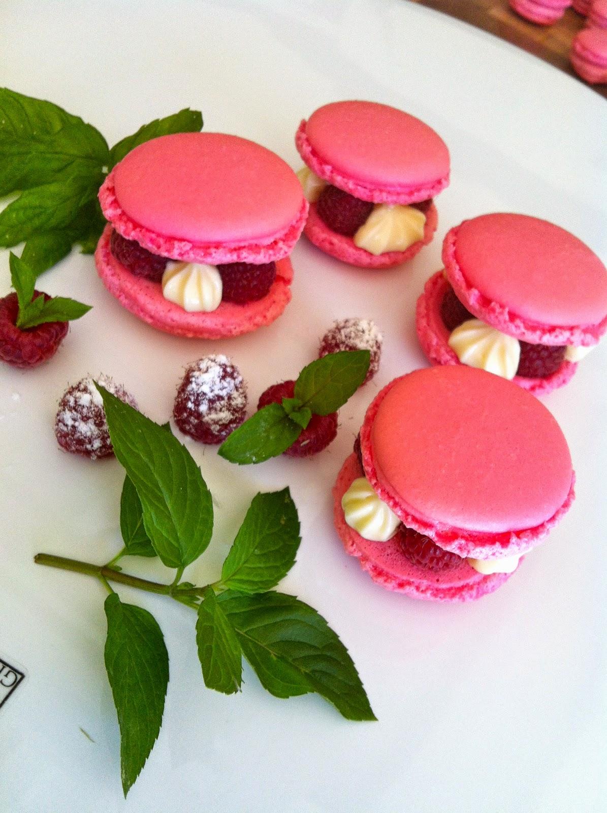 "alt=""macaron au chocolat blanc"""