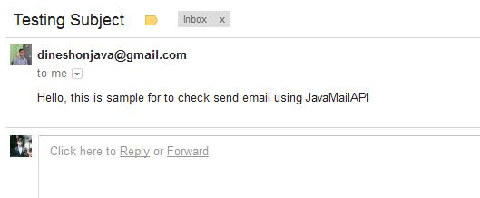 Sending Email JavaMail API