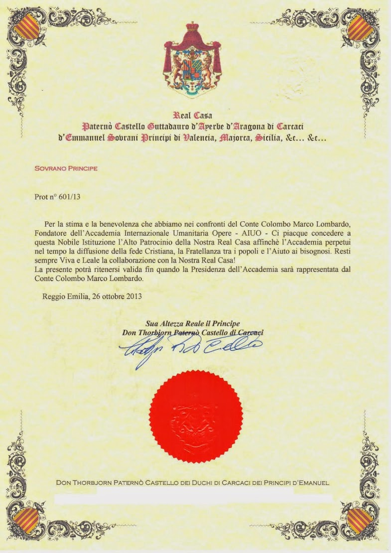 Patrocinio Decreto Prot. N° 601/13