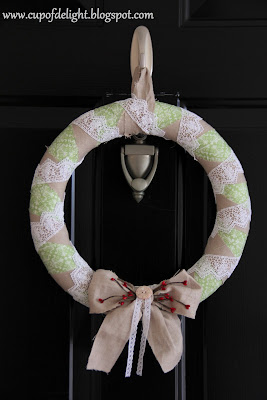 Linen and Lace Wreath