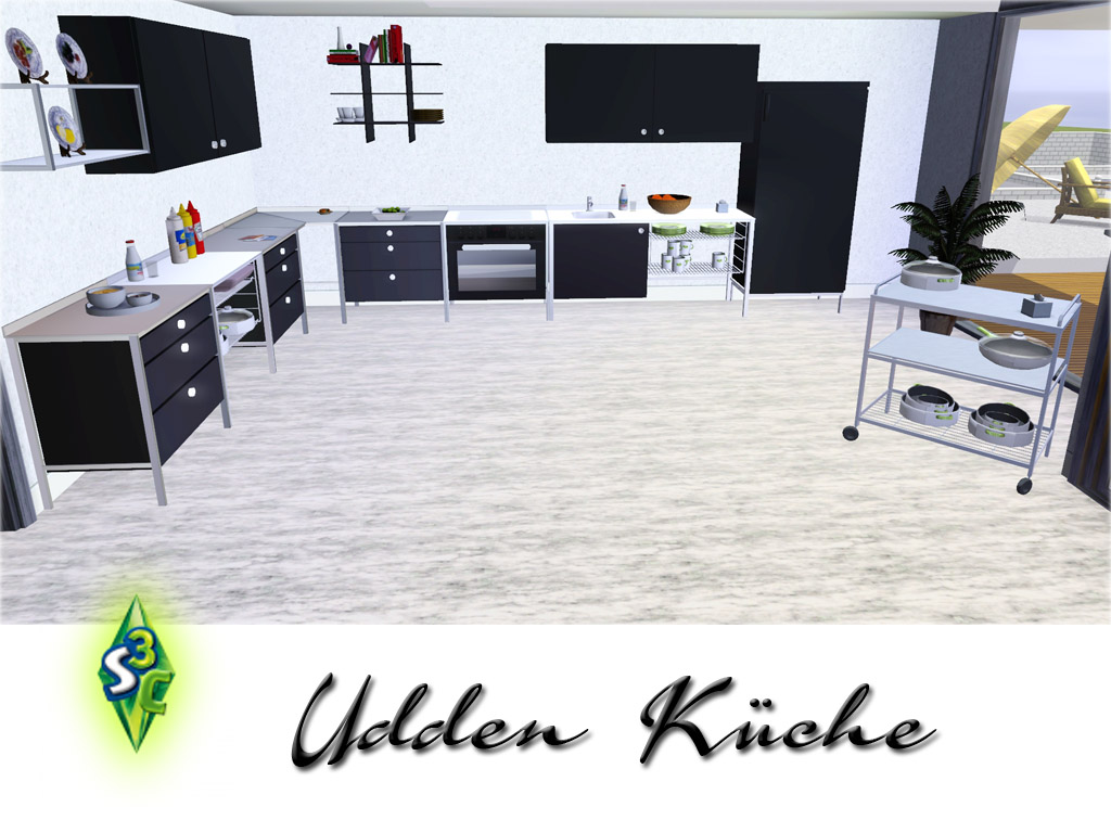 my sims 3 blog new kitchen set by bobo. Black Bedroom Furniture Sets. Home Design Ideas