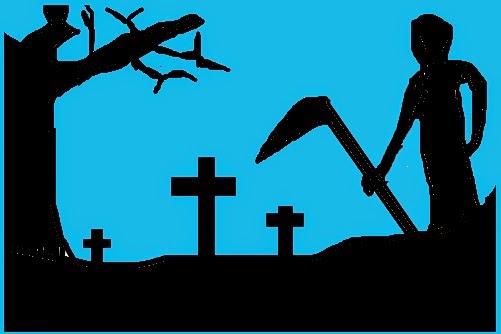 """a """"morte"""" no cemitério."""