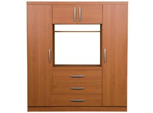 0021 closet tv 4 puertas 3 cajones 168x52x85cm muebles for Closet con espacio para tv
