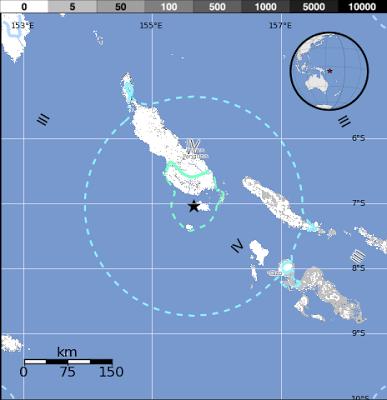 sismo de 6,1 grados en la escala de Richter sacudió las Islas Salomón, en el Pacífico Sur, 05 de Julio 2013