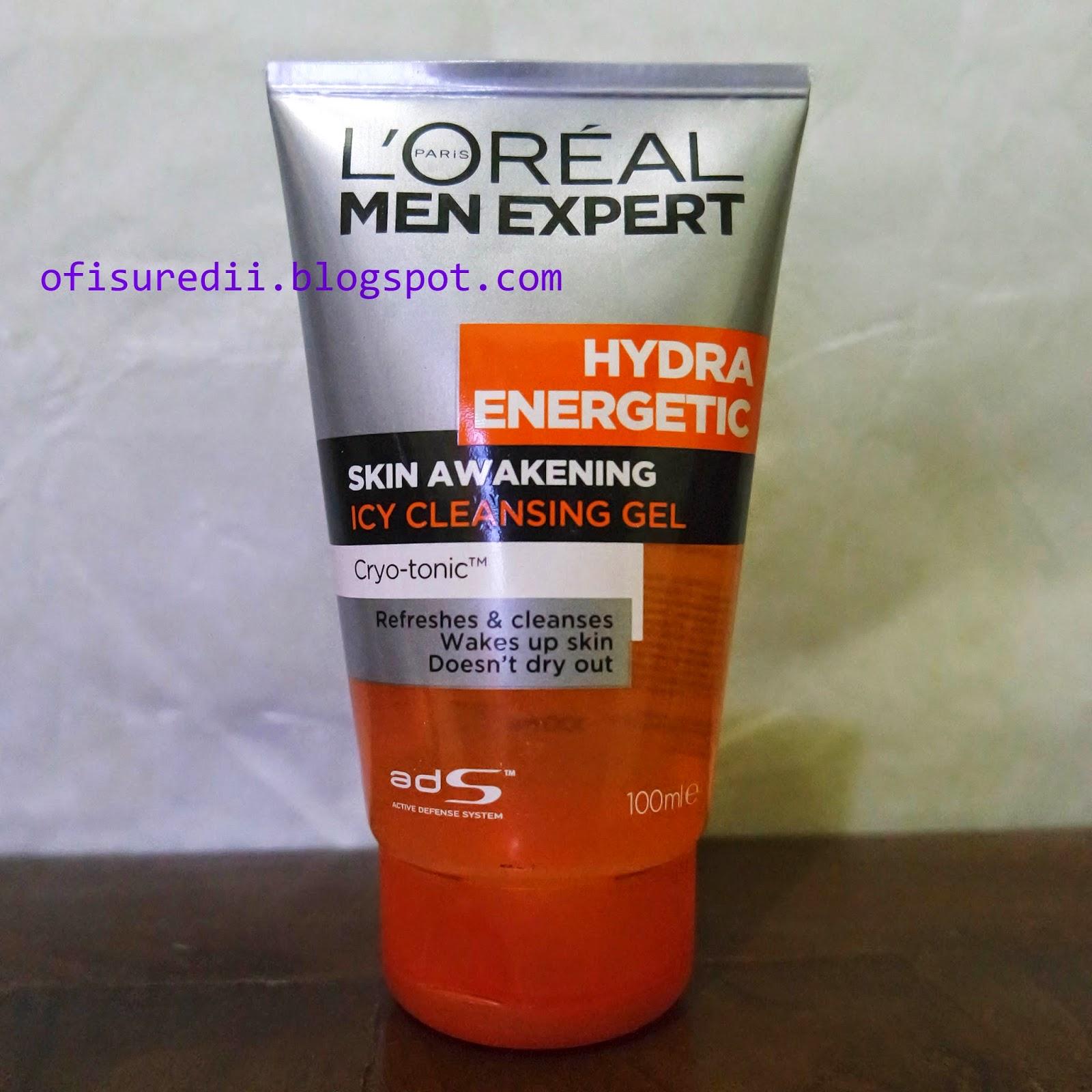 L oreal Men Expert Hydra Ener ic Skin Awakening Icy cleansing Gel panjang ban ya namanya hahaha Ini merupakan sabun muka yang berbentuk gel berwarna