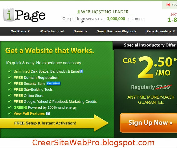 Hébergeur Site Web IPage : Héberger son Site Internet