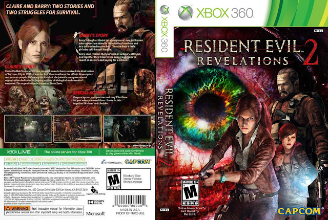 Capa Resident Evil Revelations 2 Xbox 360