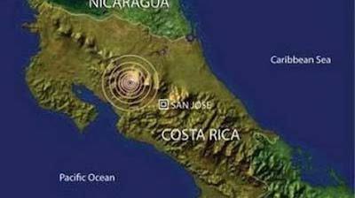 Epicentro sismo 5,6 grados en Costa Rica, 08 de Septiembre 2012