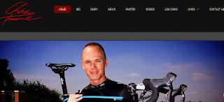 Imagen de la web de Chris Froome, ganador del Tour de Francia 2013