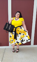 Yellow and Black Plus Size Dresses