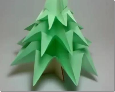 Rbol de navidad en origami papiroflex a para ni os - Arbol de navidad origami ...