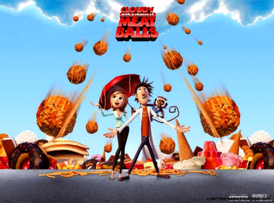 Cloudy with a Chance of Meatballs Theatrical Poster Wallpaper