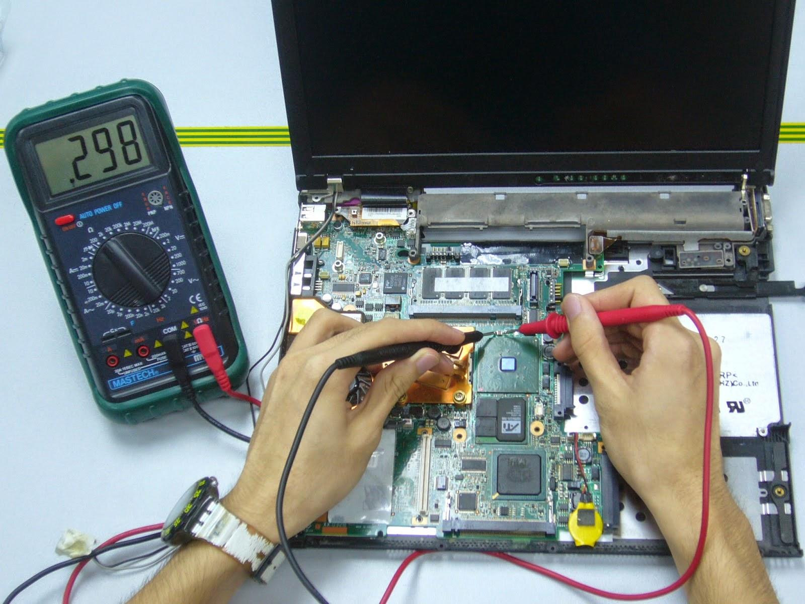 cara mengetahui atau indikasi laptop rusak