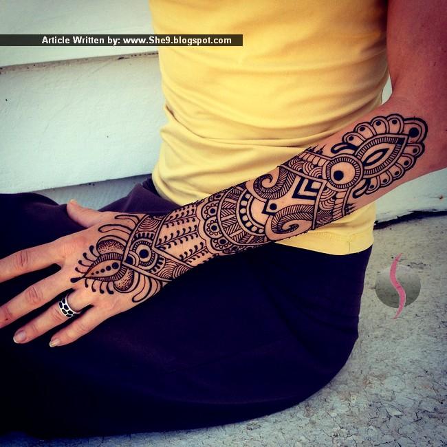 Mehndi Arm Sleeve : New latest mehndi designs for eid henna
