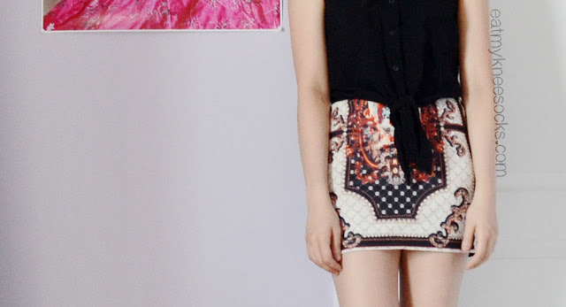 Dresslink sells this baroque-style palace-patterned bodycon miniskirt for just $3.
