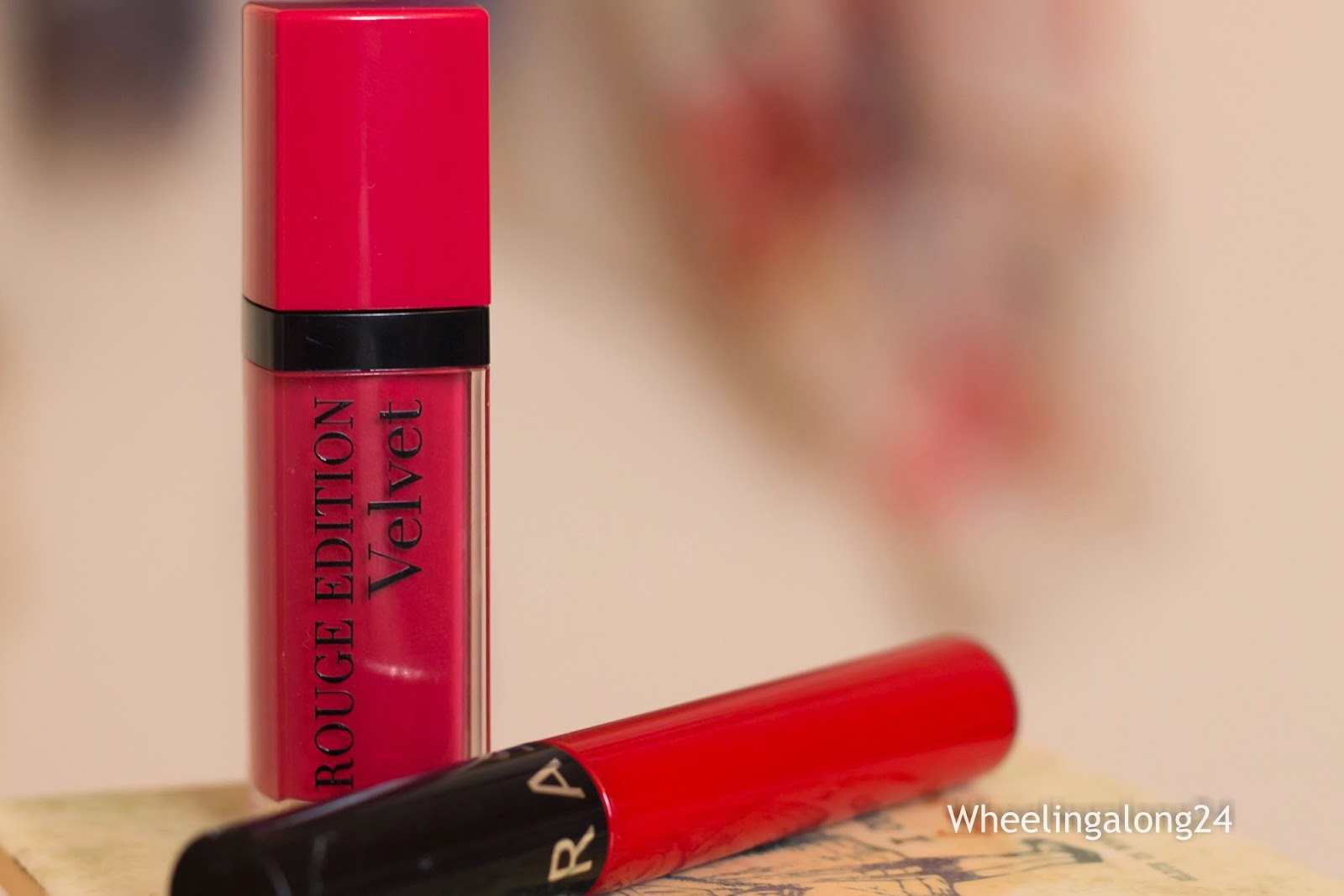 Bourjois Rouge Edition Velvet in Frambois vs. Sephora Cream Lipstain in Always Red