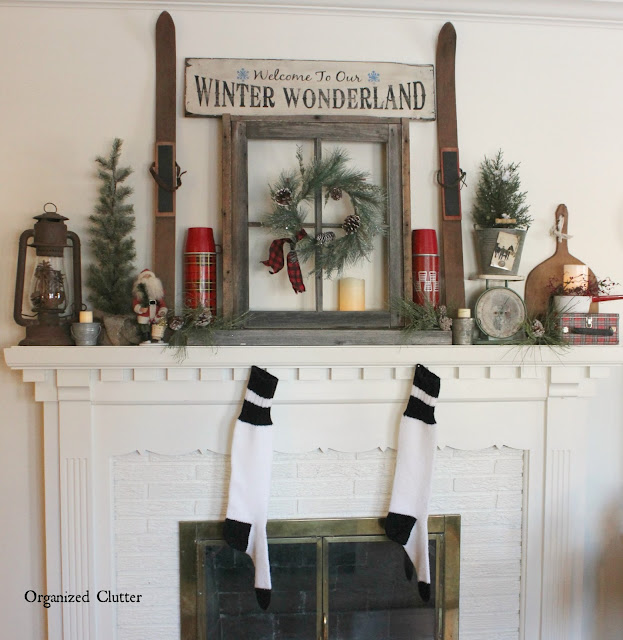 Building A Christmas Mantel Around A Window Frame