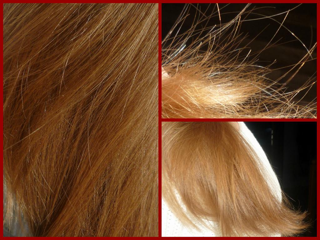 kulki na końcówkach włosów