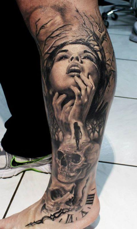 Leg Tattoos Men