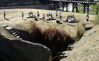 Preparations for the execution bursts of cannon