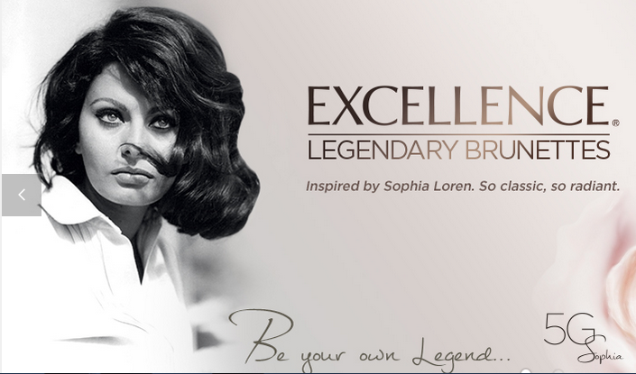 for brunettes they have chosen our own beauty icon sophia loren to represent a choice in excellence so to speak - Sophia Loren Hair Color