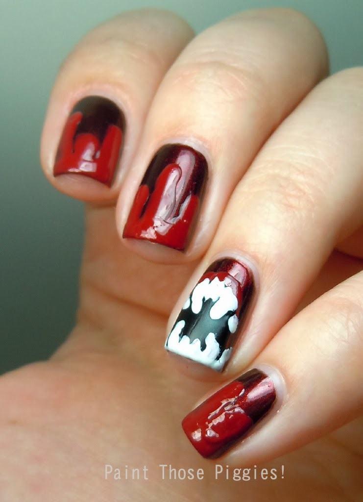 Paint Those Piggies!: Vampire Nail Art, a question, and a bonus kitty