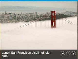 inovLy media : Langist San Francisco diselimuti oleh kabut