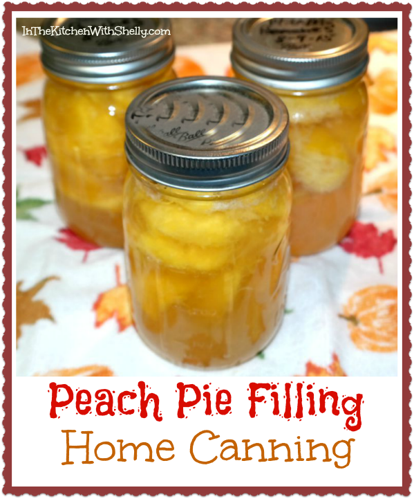 Shakin bakin foodie blog how to can peach pie filling for Peach pie recipe with canned peaches