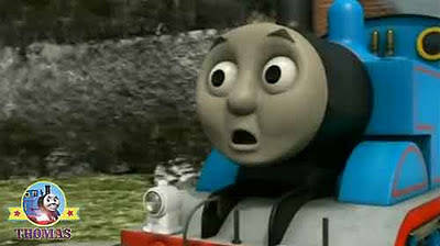 Big express Gordon the train steam whistle blow loudly that made Thomas the number 1 engine jump
