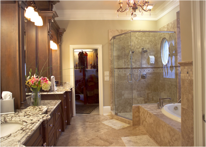 Traditional bathroom design ideas room design inspirations for Master bathroom decorating ideas