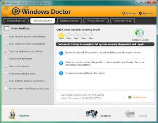 صورة من برنامج Windows Doctor