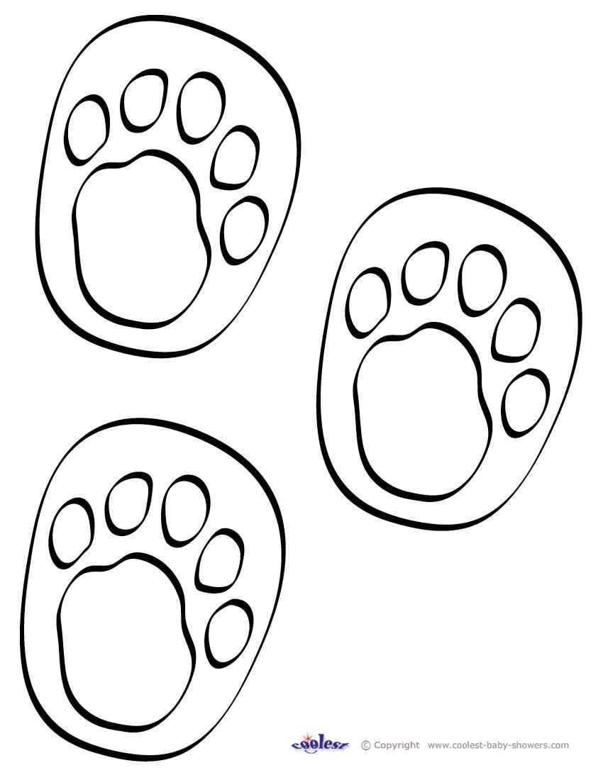 Huellas de pies para colorear - Imagui