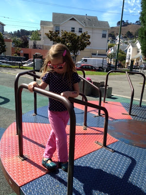 granddaughter at the playground