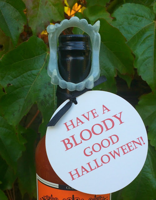 Have a Bloody Good Halloween - Perfect Easy Hostess Gift - Printable Tags | www.jacolynmurphy.com