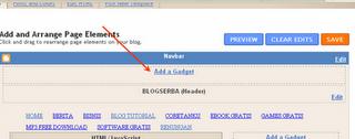Cara Menambah Header di Atas Judul Blog
