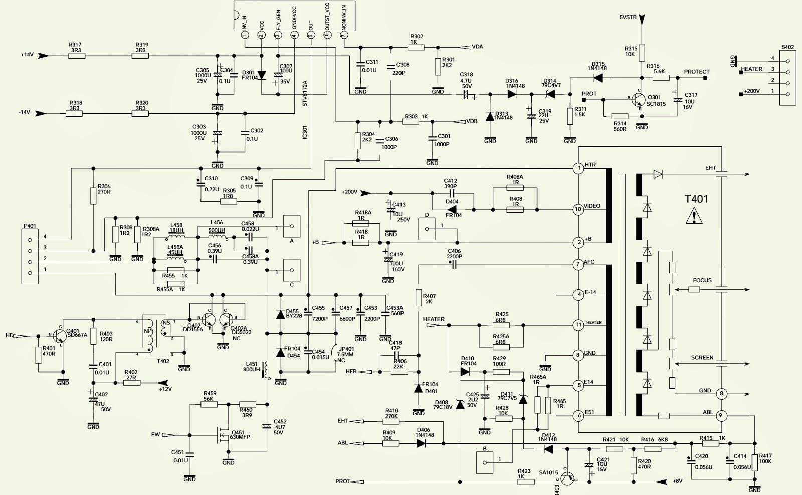 Philco Ph29m Ss Tv - Schematic  Circuit Diagram