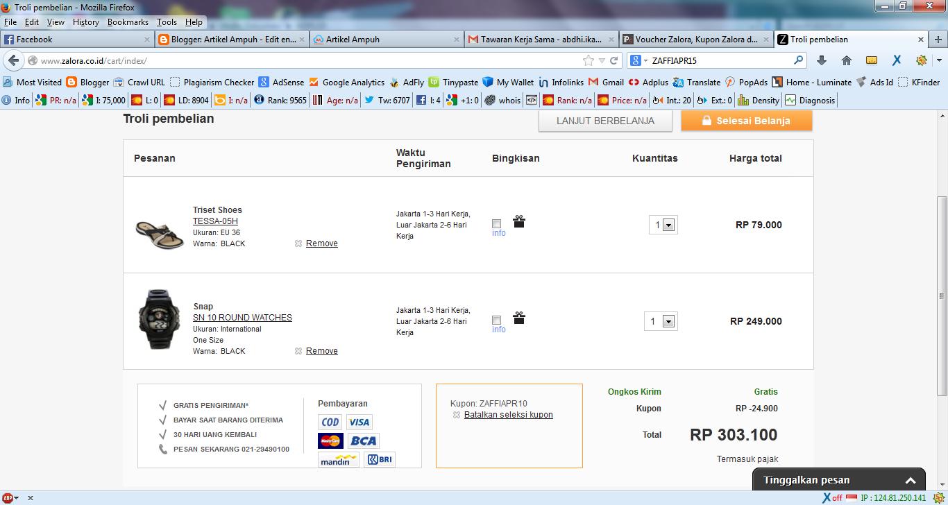 Berbelanja Online Menggunakan iPrice Coupons