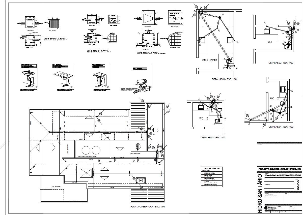 Projetos & Desenhos: Projeto Hidro Sanitário #4D4F5C 1205 853
